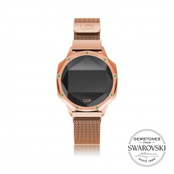 ICONIC ROSE GOLD GREEN LE SET WITH SWAROVSKI® TOPAZ LOOP BAND