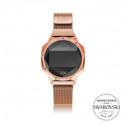 ICONIC ROSE GOLD LE SET WITH SWAROVSKI® TOPAZ LOOP BAND
