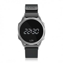 UPWATCH ICON SILVER&BLACK LOOP BAND
