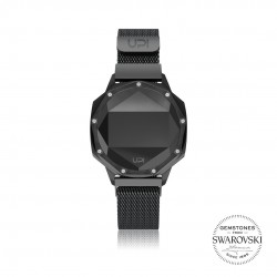 ICONIC BLACK SET WITH SWAROVSKI® TOPAZ LOOP BAND
