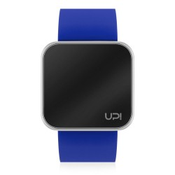 UPWATCH TOUCH SHINY SILVER&BLUE
