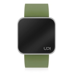 UPWATCH TOUCH SHINY SILVER&GREEN