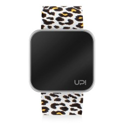 UPWATCH TOUCH SHINY SILVER&LEOPARD