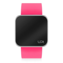 UPWATCH TOUCH SHINY SILVER&NPINK