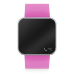 UPWATCH TOUCH SHINY SILVER&PINK
