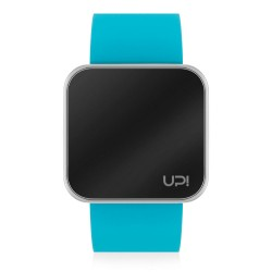 UPWATCH TOUCH SHINY SILVER&TURQUOISE